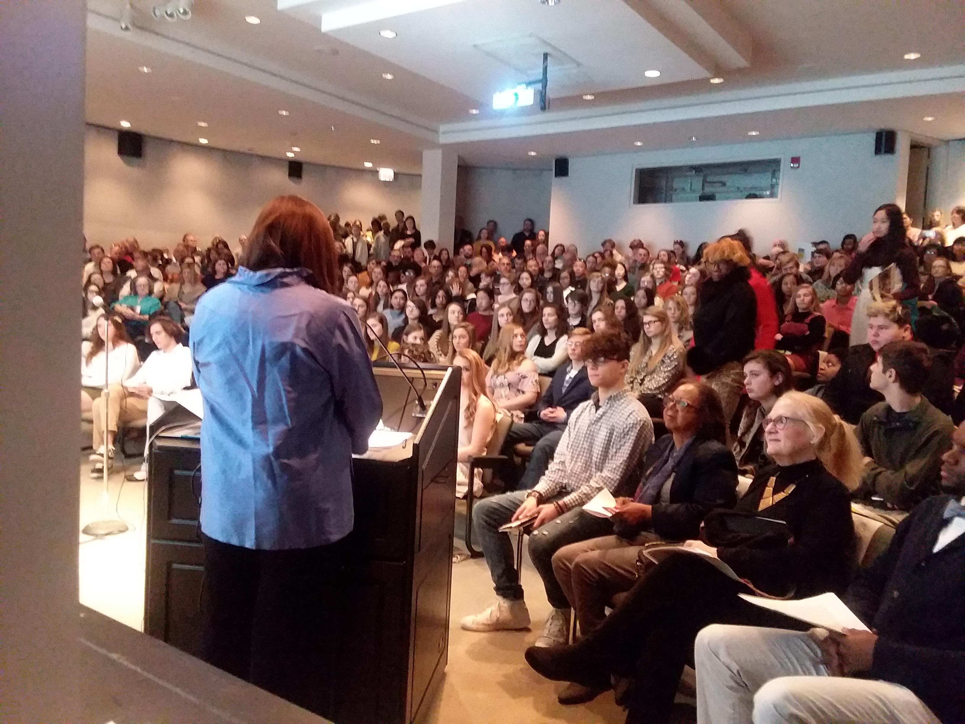 Paula Polite, emcee audience Dr. Emily Ruch